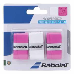 Обмотки Babolat My Grip 3шт Цвет Белый/розовый 653045