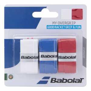 Обмотки Babolat My Grip 3шт Цвет Белый/синий/красный 653045