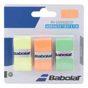 Обмотки Babolat My Grip 3шт Цвет оранжевый/зеленый/флуоресцентный 653045
