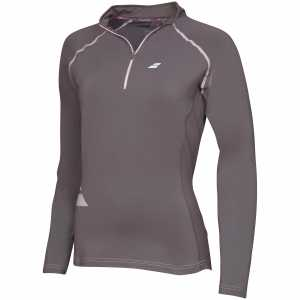 Женская футболка Babolat Core 1/2 Zip Цвет Темно-серый 3WS16171-115