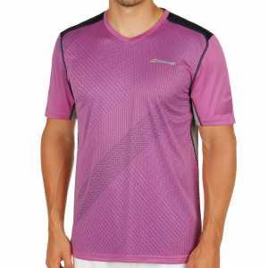 Мужская футболка Babolat V-Neck Performance 2017 Цвет Лиловый 2MS17012-250