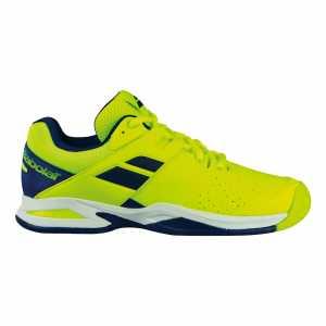 Детские кроссовки Babolat Propulse All court (36 - 40) Цвет Флуоресцентно желтый/Сумеречно синий 33S18478-7002