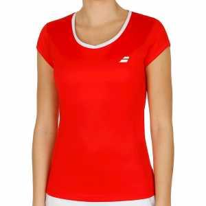 Женская футболка Babolat Core Flag Club Цвет Флуоресцентно красный 3WS18011-5005