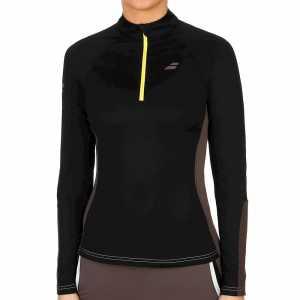 Женская футболка Babolat Core 1/2 Zip Цвет Черный/Темно серый 3WS18171-2009