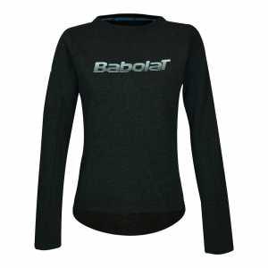 Женская утепленная футболка Babolat Core Цвет Темно синий/Серый меланж 3WS18042-3003