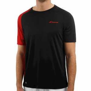 Мужская футболка Babolat Perf Crew Neck 2019 Цвет Черный / Насыщенно алый 2MS19011-2010