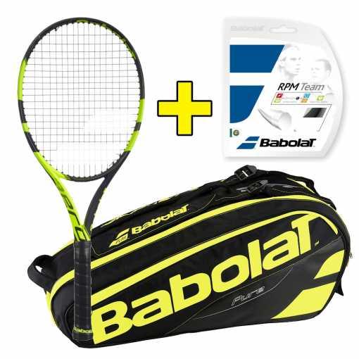 Комплект Babolat Pure Aero Lite + Струны + Сумка 101308