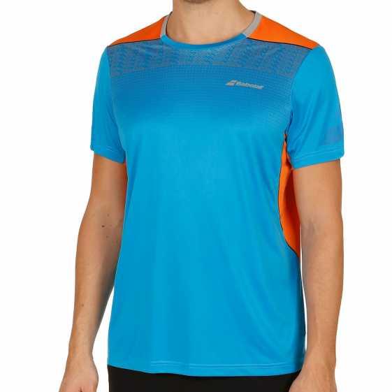Мужская футболка Babolat Crew Neck Performance 2017 Цвет Яркий голубой 2MS17011-132