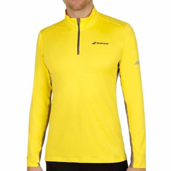 Мужская футболка Babolat Core 1/2 Zip Цвет Аэро желтый 3MS17171-243