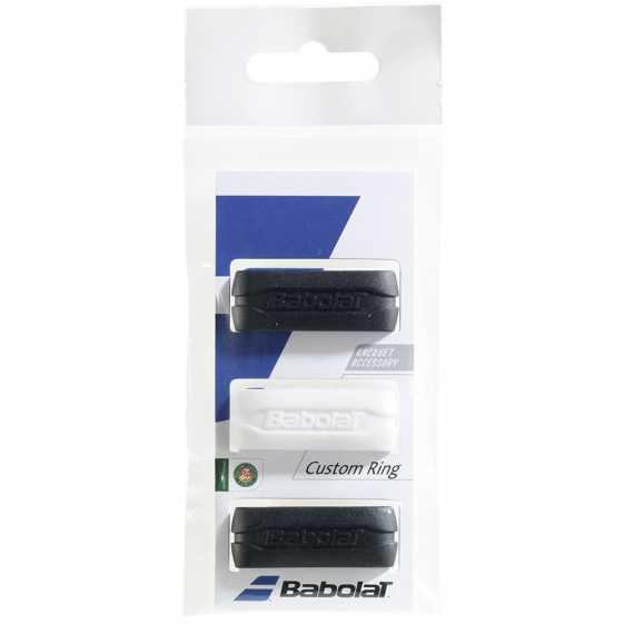 Кольцо на ручку ракетки Babolat Custom Ring 3шт Цвет Черный/белый 710025-145