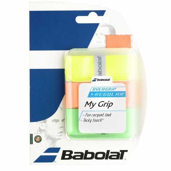 Обмотки Babolat My Grip 3шт Цвет оранжевый/зеленый/флуоресцентный 653035