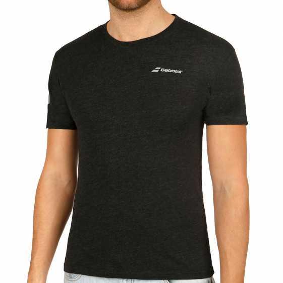 Мужская футболка Babolat Core 2018 Цвет Черный меланж 3MS18014-2003