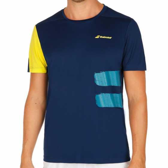 Мужская футболка Babolat Crew Neck Performance 2018 Цвет Сумеречно синий 2MS18011-4000