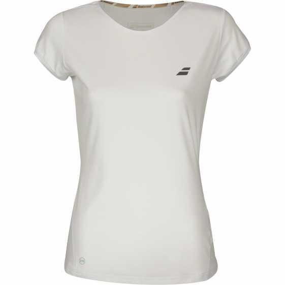 Женская футболка Babolat Performance Cap Sleeve Цвет Белый/Белый 2WS18031-1000
