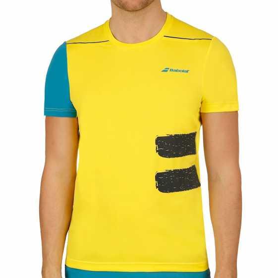 Мужская футболка Babolat Crew Neck Performance 2018 Цвет Пылающий желтый 2MS18011-7000