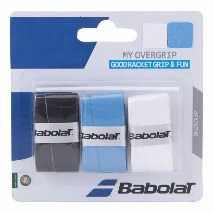 Обмотки Babolat My Grip 3шт Цвет Черный/голубой/белый 653045