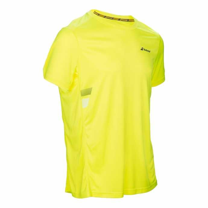 Мужская футболка Babolat Core Flag Club Цвет Аэро желтый 3MS17011-243
