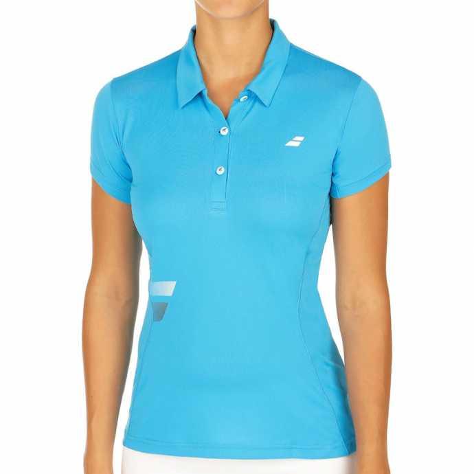 Женское поло Babolat Core Club Цвет Флуоресцентно-голубой 3WS17021-132