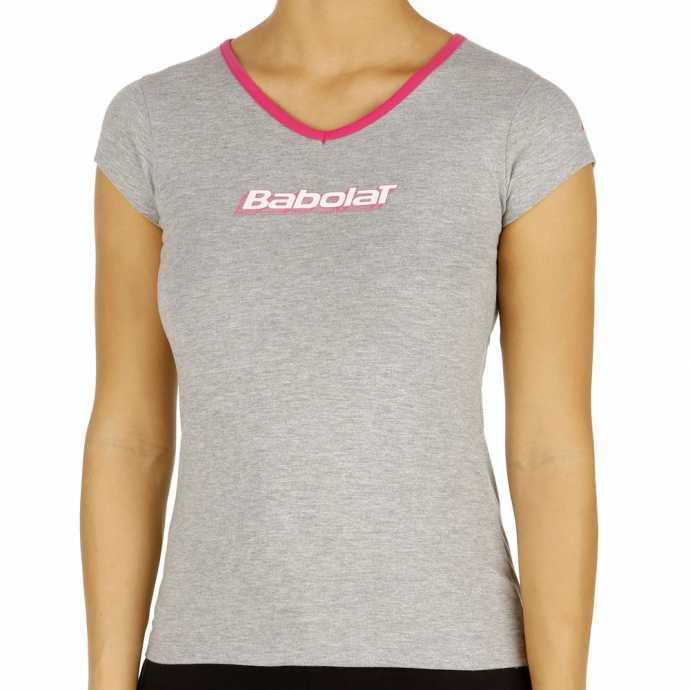 Футболка для девочек Babolat Training Basic Цвет Серый 42F1472-107