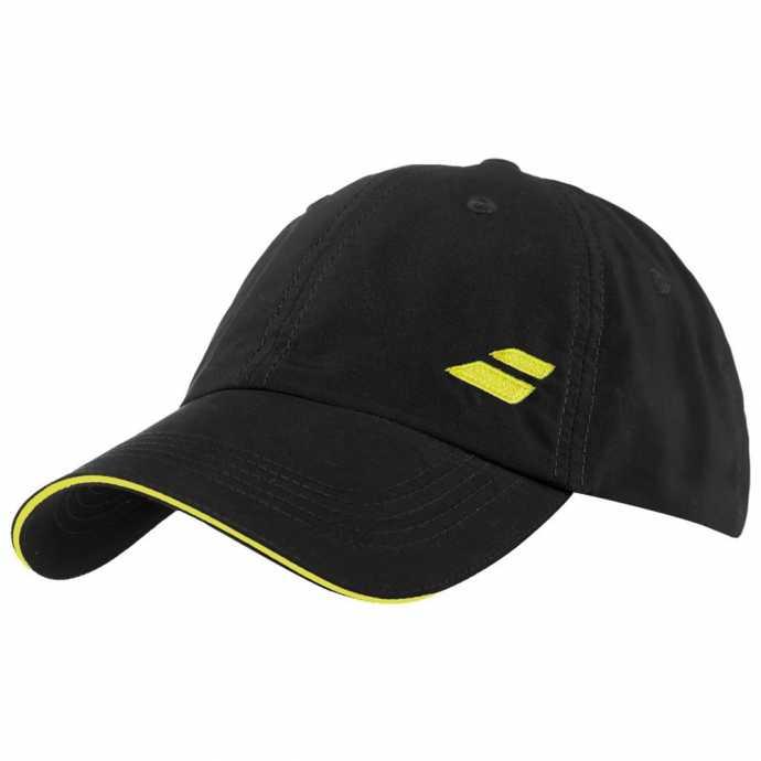 Бейсболка Babolat Basic Logo Цвет Черный/Пылающий желтый 5US18221-2006