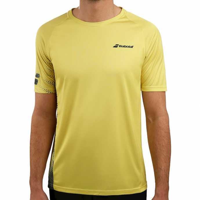 Мужская футболка Babolat Perf Crew Neck 2019 Цвет Темно желтый /Черный 2MS19011-7007
