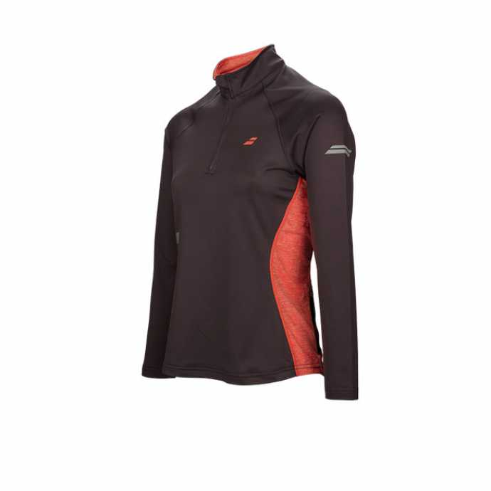 Женская футболка Babolat Core 1/2 Zip Цвет Темно-серый 3WS17171-115