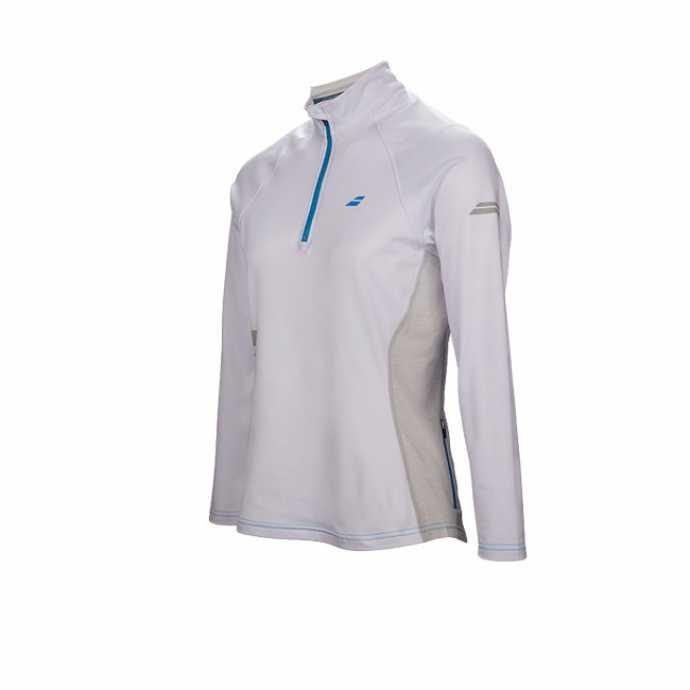 Женская футболка Babolat Core 1/2 Zip Цвет Белый 3WS17171-101
