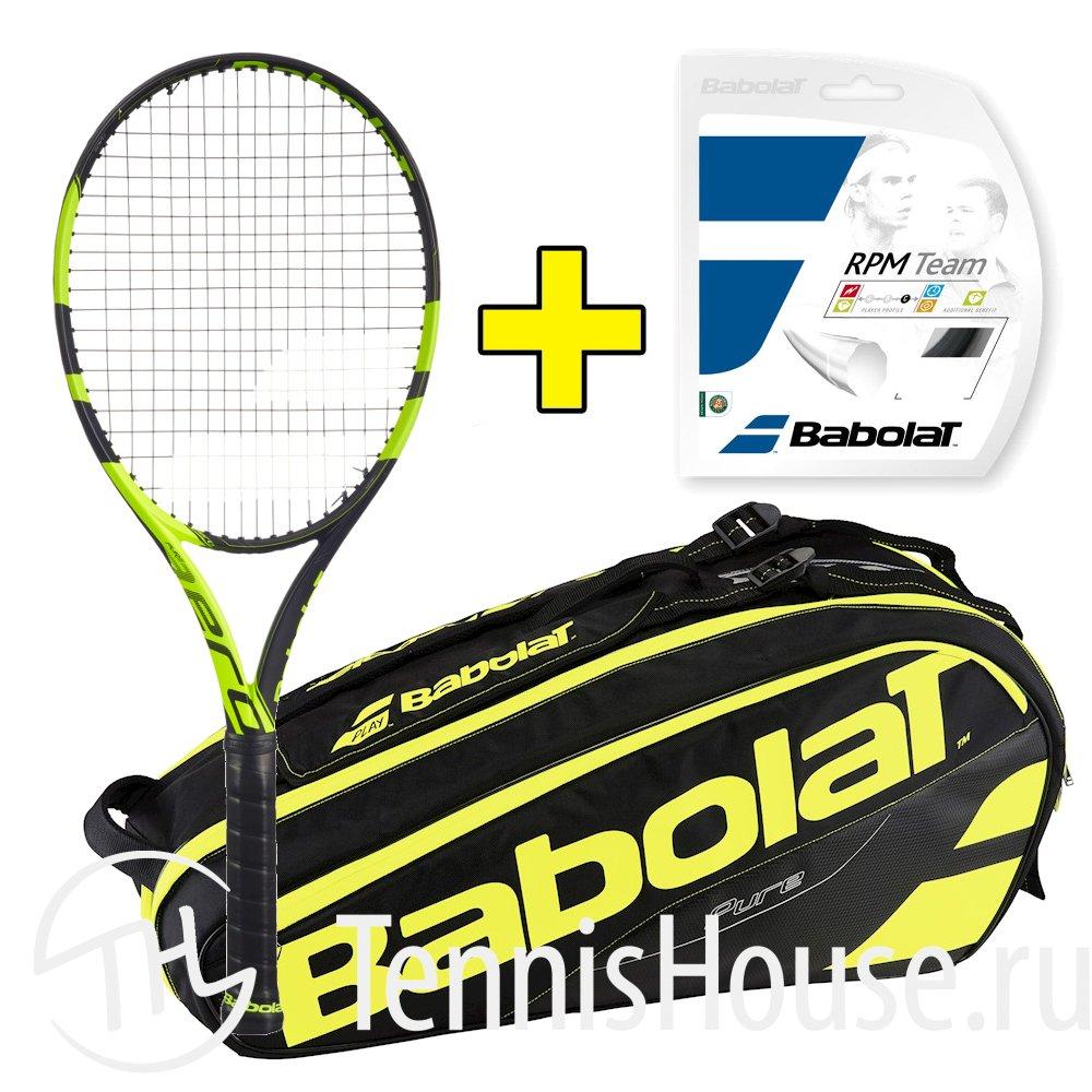 Комплект Babolat Pure Aero Plus + Струна + Сумка 101305