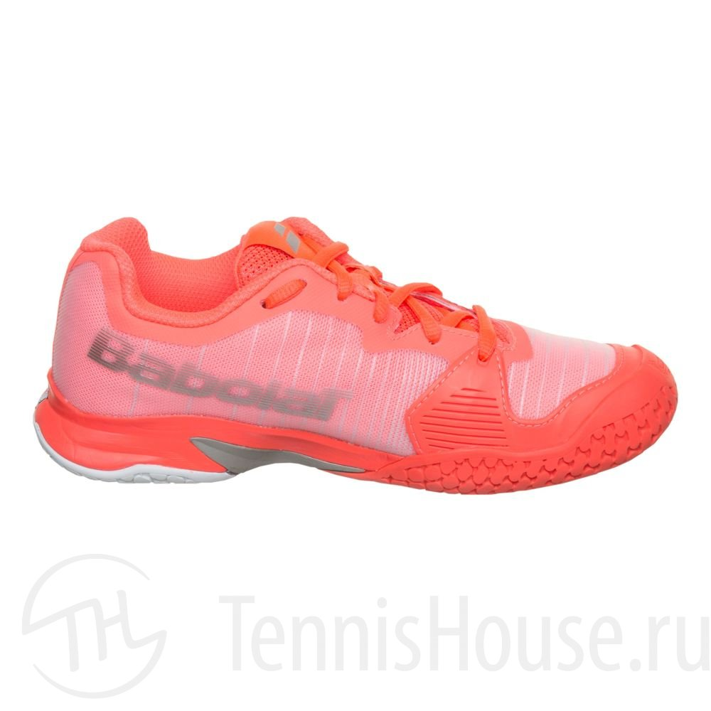 Детские кроссовки Babolat Jet All court (31.5 - 35.5) Цвет Фанданго розовый/Флуоресцентно розовый 32S18648-5018