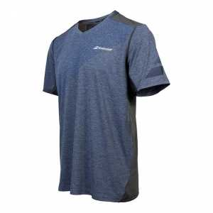 Мужская футболка Babolat V-Neck Performance 2017 Цвет Меланж Синий 2MS17012-251