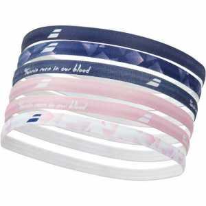 Эластичная повязка на голову женская Babolat 6шт Цвет Светло розовый/Сумеречно синий 5WA1292-5032