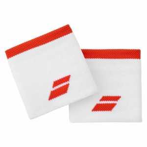 Напульсники Babolat Logo 2020 Цвет Белый/Фиеста красный 5UA1261-1043
