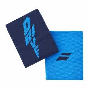 Напульсники Babolat Logo Jumbo 2020 Цвет Ярко синий 5UA1262-4086