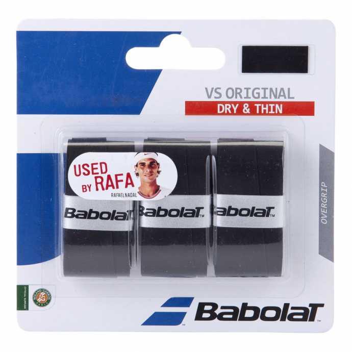 Обмотки Babolat VS Original 3шт Цвет Чёрный 653040-105