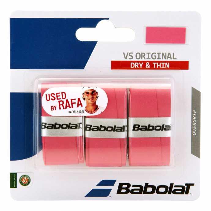 Обмотки Babolat VS Original 3шт Цвет Розовый 653040-156