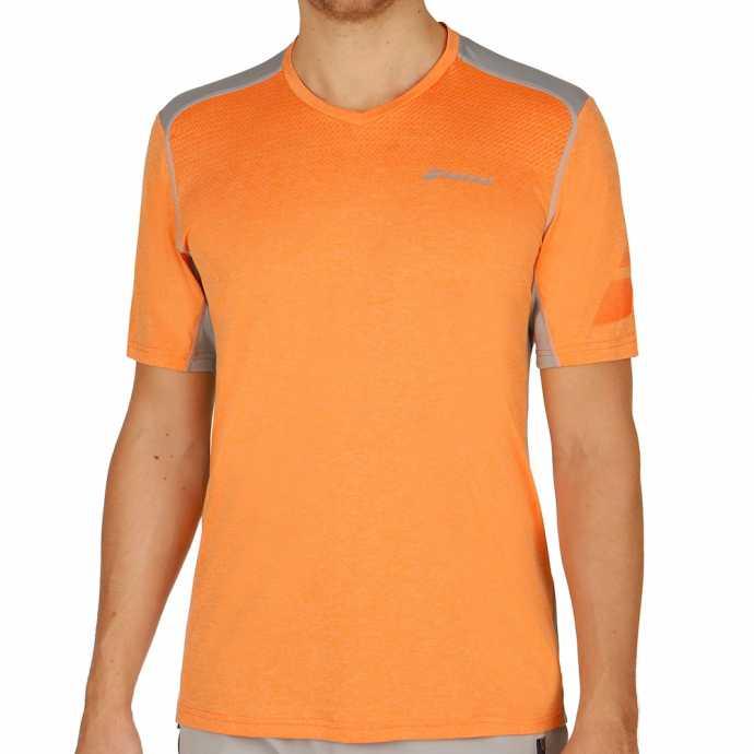 Мужская футболка Babolat V-Neck Performance 2017 Цвет Светло оранжевый 2MS17012-252