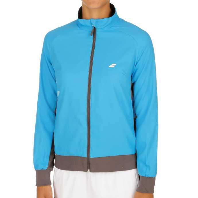Женская куртка Babolat Core Club 2017 Цвет Яркий голубой 3WS17121-132