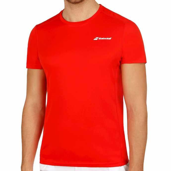Мужская футболка Babolat Core Flag Club 2018 Цвет Флуоресцентно розовый 3MS18011-5004