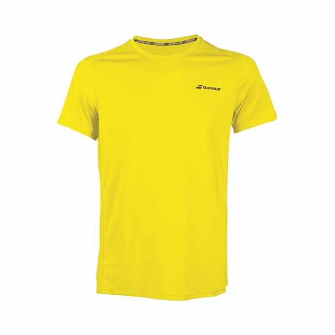 Футболка для мальчика Babolat Core Flag Club 2018 Цвет Пылающий желтый 3BS18011-7000