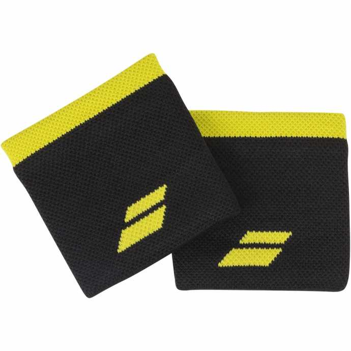 Напульсники Babolat Logo 2020 Цвет Черный /Яркий желтый 5UA1261-2015
