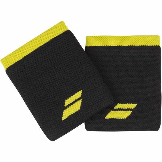Напульсники Babolat Logo Jumbo 2020 Цвет Черный /Яркий желтый 5UA1262-2015