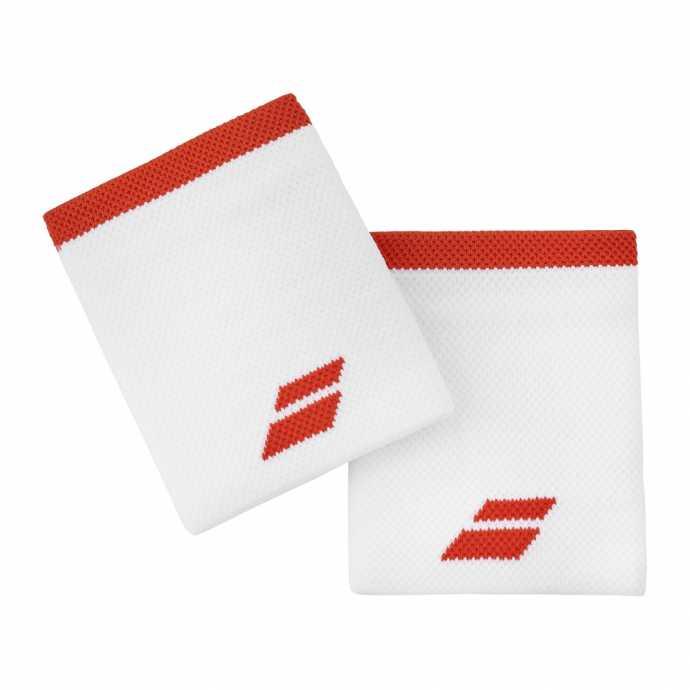 Напульсники Babolat Logo Jumbo 2020 Цвет Белый/Фиеста красный 5UA1262-1043