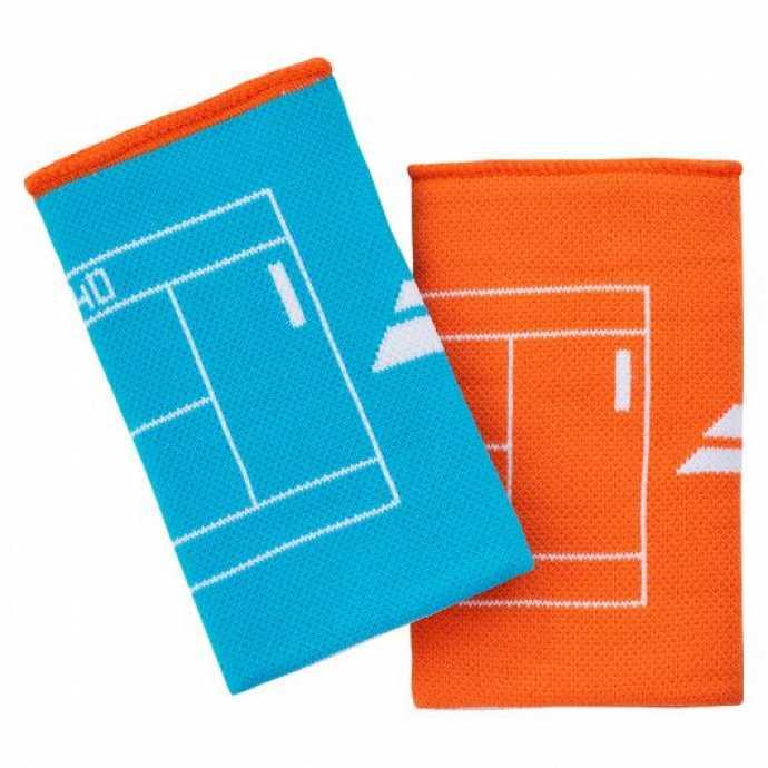 Напульсники двусторонний Babolat REVERSIBLE JB Цвет Бирюзовый синий/Оранжевый 5UA1281-4084