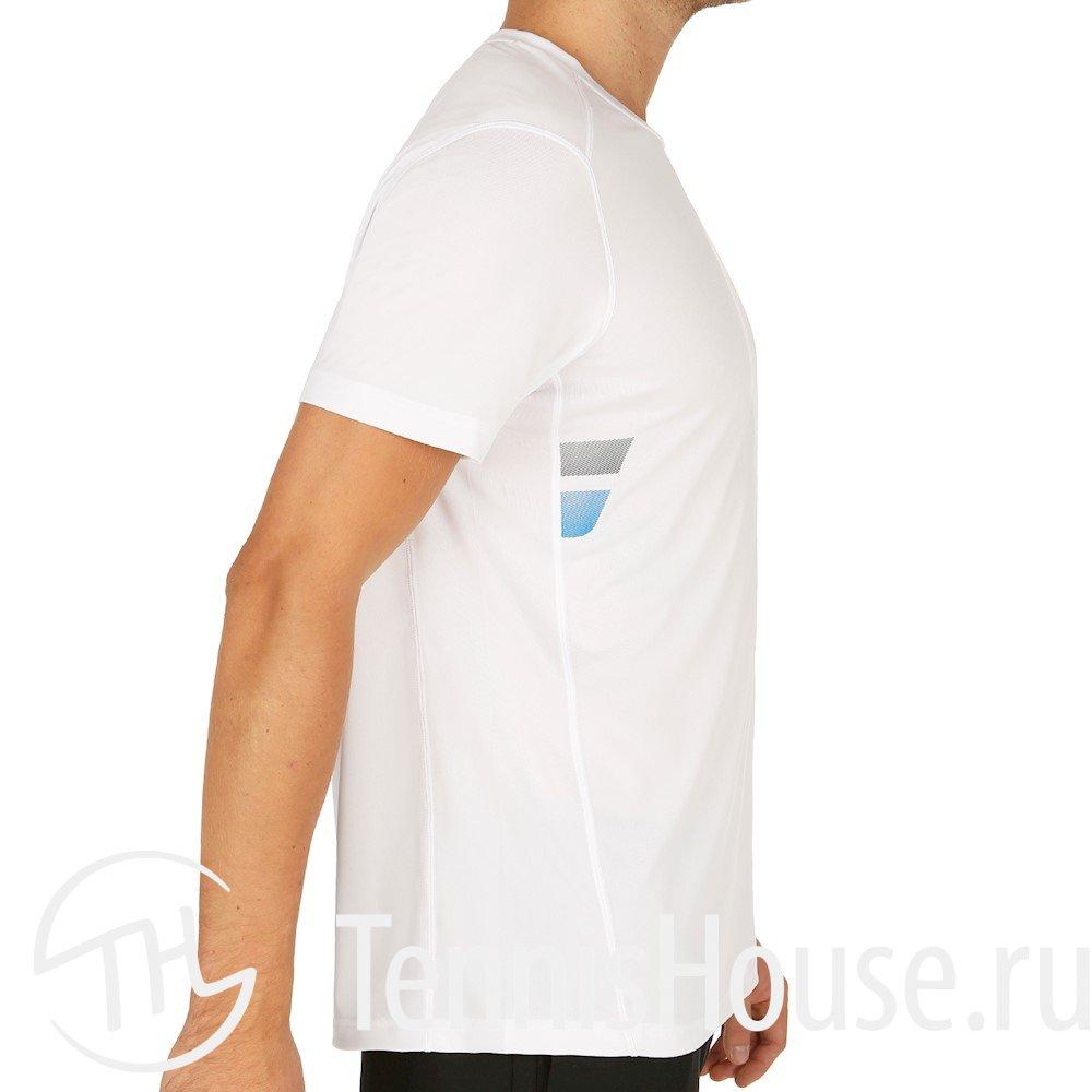 Мужская футболка Babolat Core Flag Club Цвет Белый 3MS17011-101