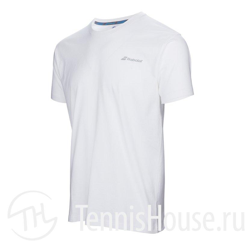 Мужская футболка Babolat Core 2017 Цвет Белый 3MS17014-101