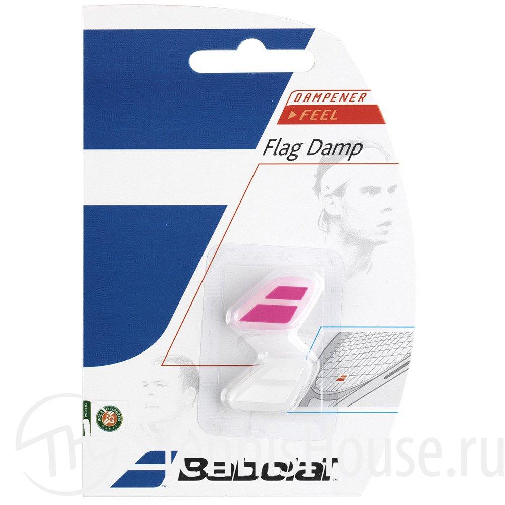 Виброгаситель Babolat Flag Damp 2шт Цвет Белый/розовый 700032-184