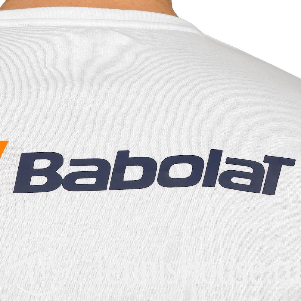 Мужская футболка Babolat Core 2018 Цвет Белый/Белый 3MS18014-1000
