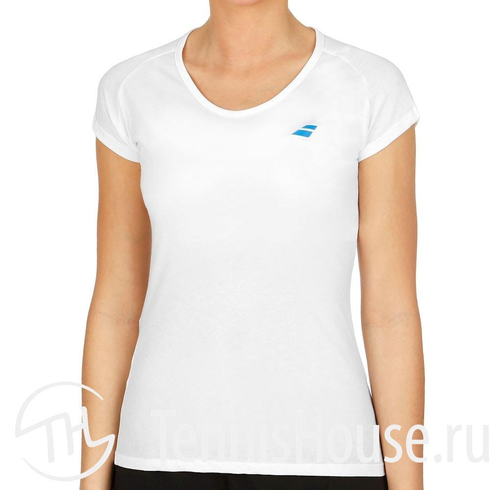 Женская футболка Babolat Core 2018 Цвет Белый/Белый 3WS18012-1000