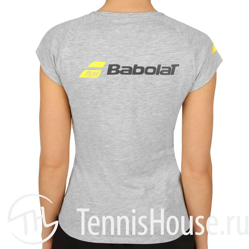 Женская футболка Babolat Core 2018 Цвет Серый меланж 3WS18012-3005