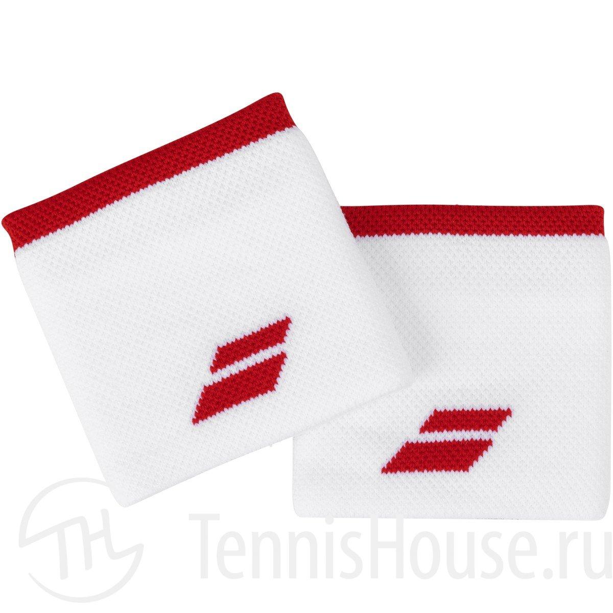 Напульсники Babolat Logo 2020 Цвет Белый/Красный томат 5UA1261-1031